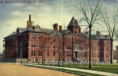 St. Mary's Hospital - Detroit, Michigan MI Postcard
