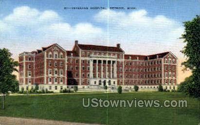 Veterans Hospital - Detroit, Michigan MI Postcard