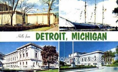Detroit Historical Museum - Michigan MI Postcard