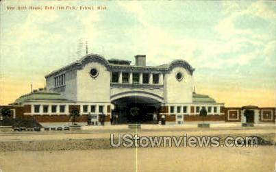 New Bath House, Belle Isle Park - Detroit, Michigan MI Postcard