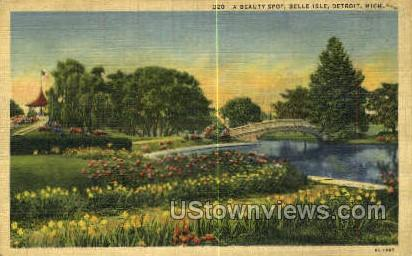 Belle Isle - Detroit, Michigan MI Postcard
