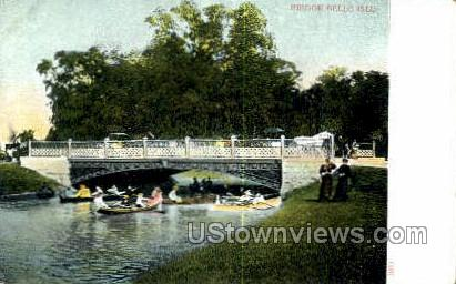 Bridge, Belle Isle - Detroit, Michigan MI Postcard