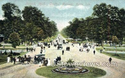 Central Ave., Belle Isle Park - Detroit, Michigan MI Postcard