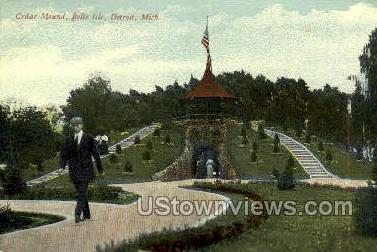 Cedar Mound, Belle Isle Park - Detroit, Michigan MI Postcard