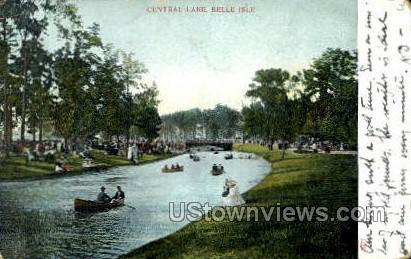 Central Lake, Belle Isle - Detroit, Michigan MI Postcard