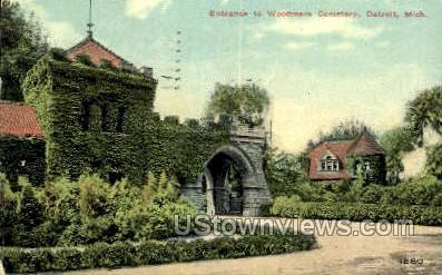 Woodmere Cemetery - Detroit, Michigan MI Postcard