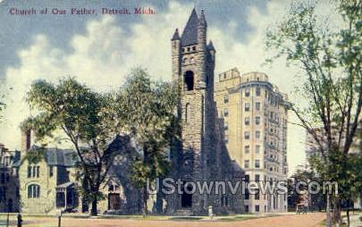Church of Our Father - Detroit, Michigan MI Postcard