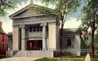 First Church of Christ Scientist - Detroit, Michigan MI Postcard