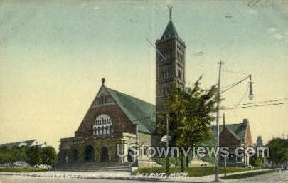 First Congregational Church - Detroit, Michigan MI Postcard