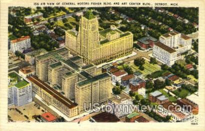 General Motors Bldg - Detroit, Michigan MI Postcard