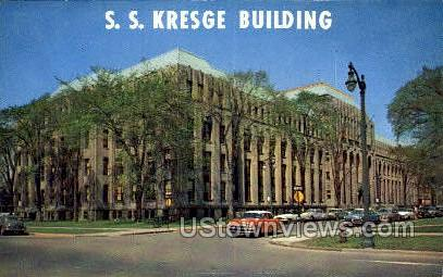 S.S. Kresge Bldg - Detroit, Michigan MI Postcard