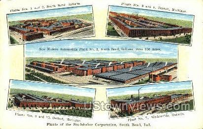 Studebaker Plants - Detroit, Michigan MI Postcard