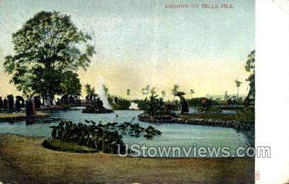 Lagoon, Belle Isle - Detroit, Michigan MI Postcard