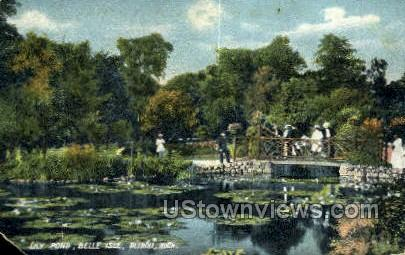 Lily Pond, Belle Isle - Detroit, Michigan MI Postcard