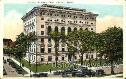 Detroit Athletic Club - Michigan MI Postcard