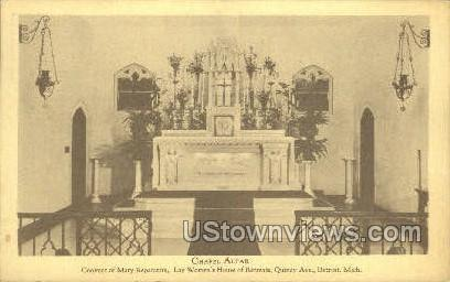 Chapel Altar - Detroit, Michigan MI Postcard