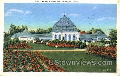 Sunken Gardens - Detroit, Michigan MI Postcard