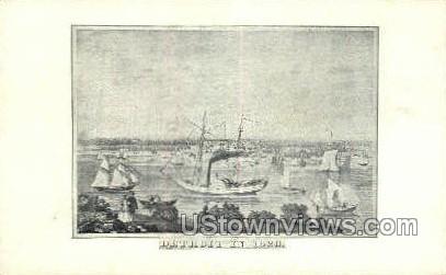 Detroit in 1820 - Michigan MI Postcard