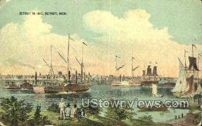 Detroit In 1810 - Michigan MI Postcard