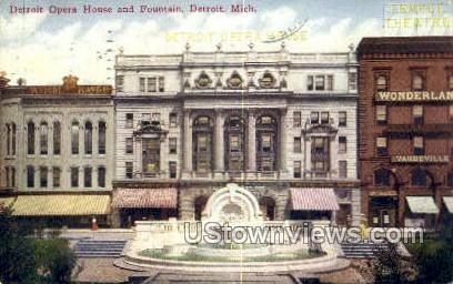Detroit Opera House - Michigan MI Postcard