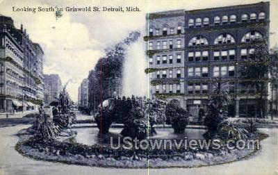 Capitol Square & Fountain - Detroit, Michigan MI Postcard