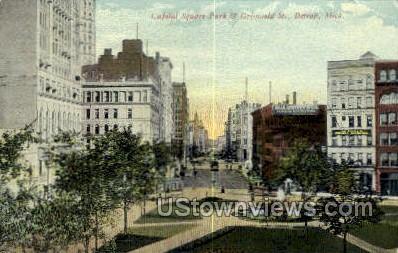 Capitol Square Park - Detroit, Michigan MI Postcard