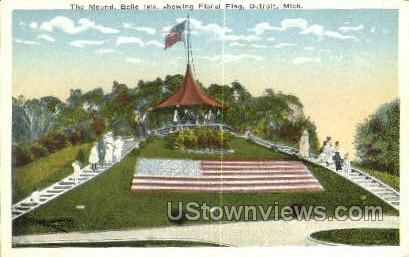 Mound, Belle Isle - Detroit, Michigan MI Postcard