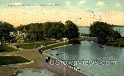 Lagoon, Belle Isle - Detroit, Michigan MI Postcard