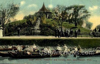Ceder Mount, Belle Isle - Detroit, Michigan MI Postcard