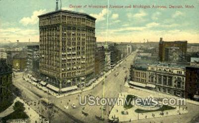 Michigan Ave. - Detroit Postcard