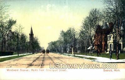 Davenport Street - Detroit, Michigan MI Postcard