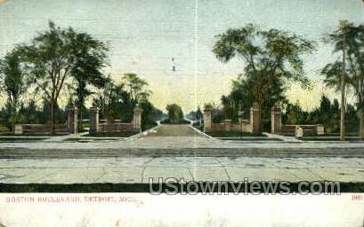 Boston Blvd. - Detroit, Michigan MI Postcard