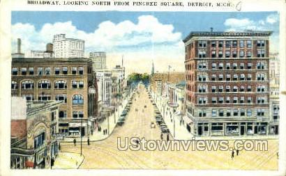 Pingree Square - Detroit, Michigan MI Postcard