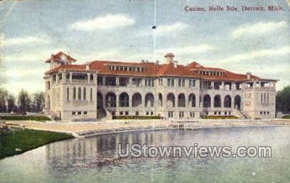 Casino, Belle Isle - Detroit, Michigan MI Postcard