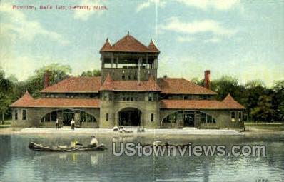 Pavilion, Belle Isle - Detroit, Michigan MI Postcard
