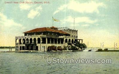 Detroit Boat Club House - Michigan MI Postcard