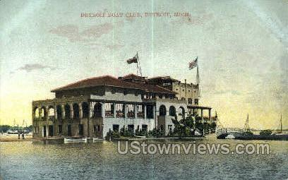 Detroit Boat Club - Michigan MI Postcard