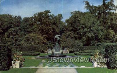 Fountain of the Wounded Gazelle - Detroit, Michigan MI Postcard