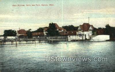 Bath House, Belle Isle Park - Detroit, Michigan MI Postcard