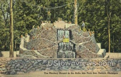 Monkey Mound, Belle Isle Park Zoo - Detroit, Michigan MI Postcard