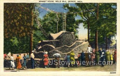 Monkey House, Belle Isle - Detroit, Michigan MI Postcard
