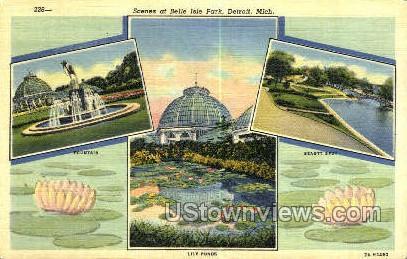 Belle Isle Park - Detroit, Michigan MI Postcard