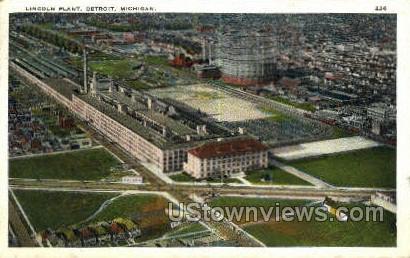 Lincoln Plant - Detroit, Michigan MI Postcard