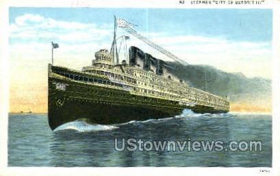Steamer City of Detroit III - Michigan MI Postcard