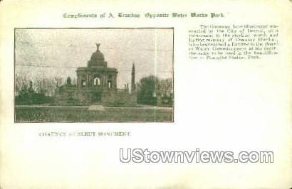 Chauncy Hurlbut Monument - Detroit, Michigan MI Postcard