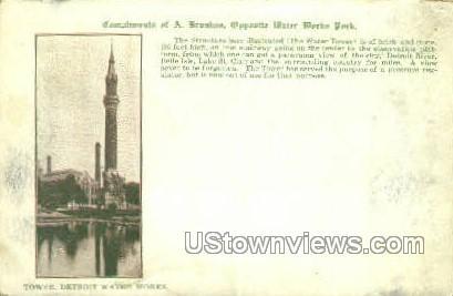 Tower Detroit Water Works - Michigan MI Postcard
