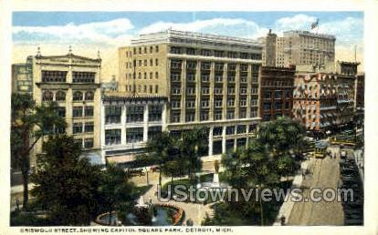 Griswold Street, Capitol Square Park - Detroit, Michigan MI Postcard