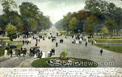 Central Ave., Belle Isle Park - Detroit, Michigan MI Postcard