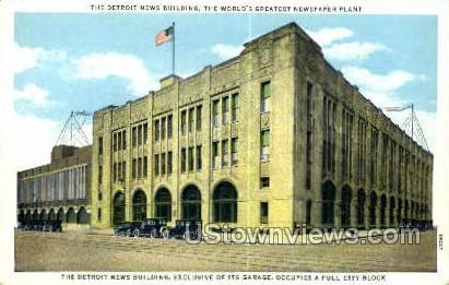 Detroit News Bldg - Michigan MI Postcard