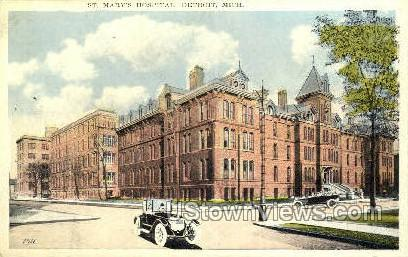 St. Mary's Hospital - Detroit, Michigan MI Postcard